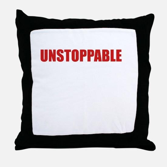 Unstoppable White Throw Pillow