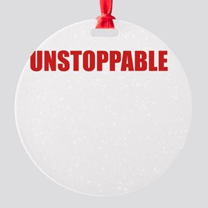 Unstoppable White Round Ornament