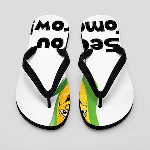 Corn See Tomorrow Black Flip Flops