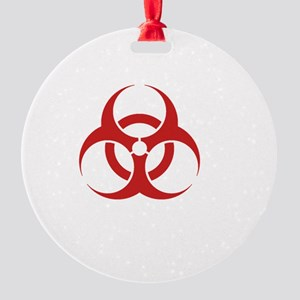 Zombie Response Team White Round Ornament
