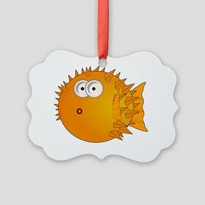 Globe Fish Orange Picture Ornament