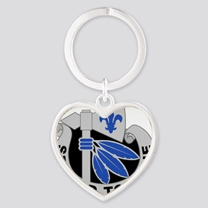 2nd Infantry Division - DUI Heart Keychain