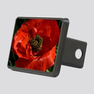 Vibrant Red Poppy Rectangular Hitch Cover