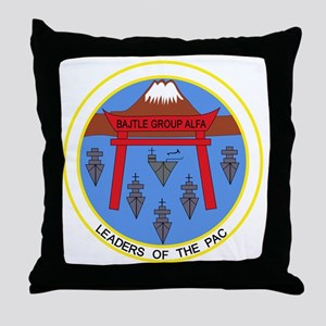 CV-41 USS MIDWAY BATTLE GROUP ALPHA M Throw Pillow