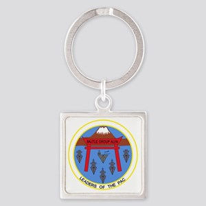 CV-41 USS MIDWAY BATTLE GROUP ALPH Square Keychain
