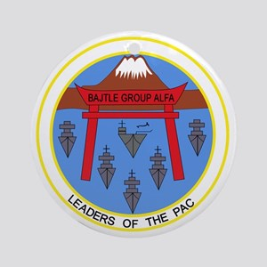 CV-41 USS MIDWAY BATTLE GROUP ALPHA Round Ornament