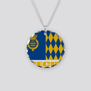 Arecibo Flag Necklace Circle Charm