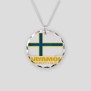 Bayamon Flag2 Necklace Circle Charm
