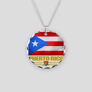 Puerto Rico (Flag 10) Necklace Circle Charm