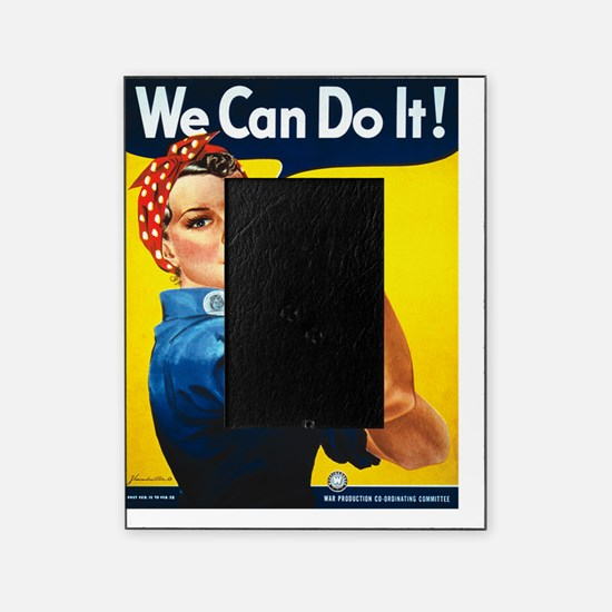 Rosie The Riveter Yellow Picture Frame
