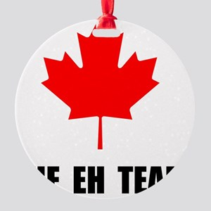 The EH Team Black Round Ornament