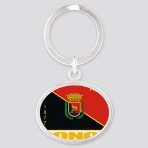 Ponce Flag Oval Keychain
