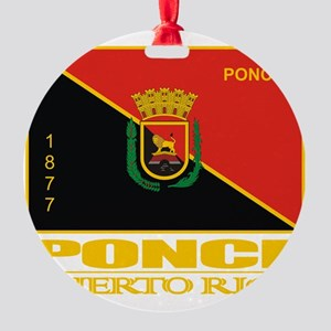 Ponce Flag Round Ornament