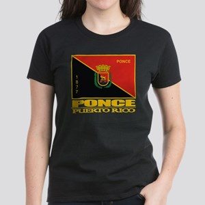 Ponce Flag Women's Dark T-Shirt