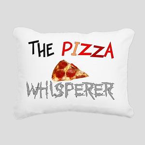 The pizza whisperer Rectangular Canvas Pillow