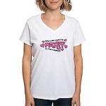 Bachelorette Party Hearts Women's V-Neck T-Shirt