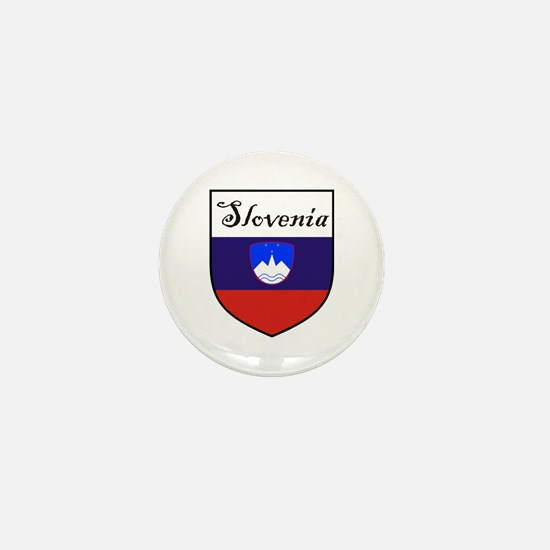 Slovenia Flag Crest Shield Mini Button (10 pack)