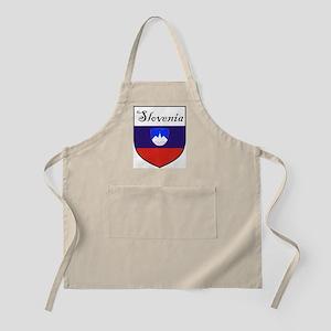 Slovenia Flag Crest Shield BBQ Apron