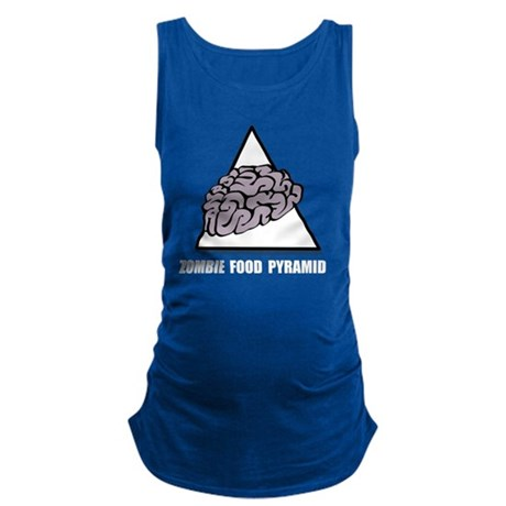 Zombie Food Pyramid White Maternity Tank Top