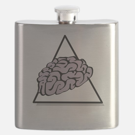 Zombie Food Pyramid White Flask