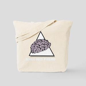 Zombie Food Pyramid White Tote Bag