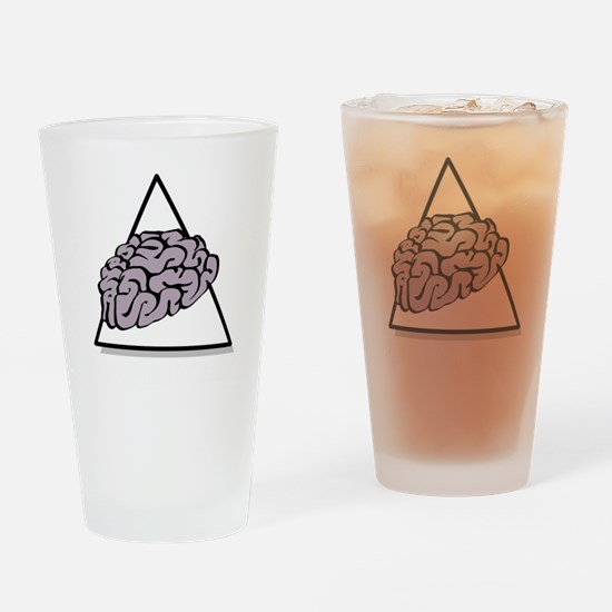 Zombie Food Pyramid White Drinking Glass