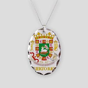 Puerto Rico COA Necklace Oval Charm