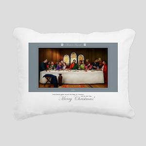 Christmas Greeting Rectangular Canvas Pillow