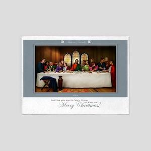 Christmas Greeting 5'x7'Area Rug
