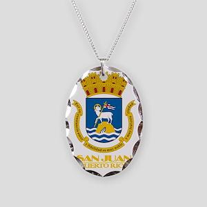 San Juan COA Necklace Oval Charm