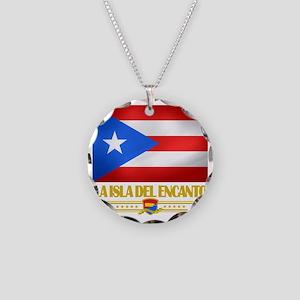 Puerto Rico (La Isla Del Eca Necklace Circle Charm