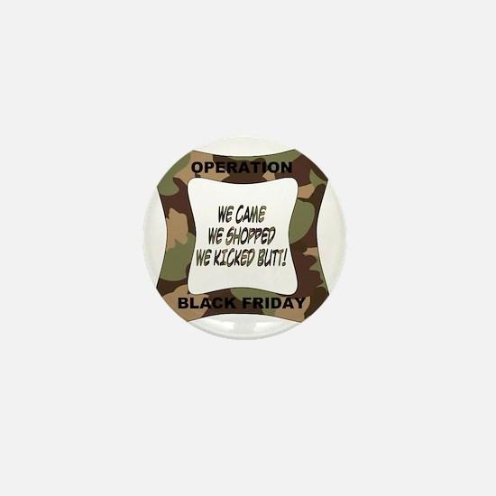 black friday green camo-001 Mini Button