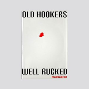 Rugby old hookers well rucked dar Rectangle Magnet