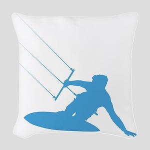 KiteSurfer03 Woven Throw Pillow