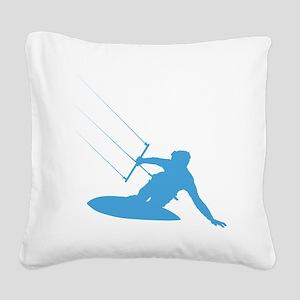 KiteSurfer03 Square Canvas Pillow