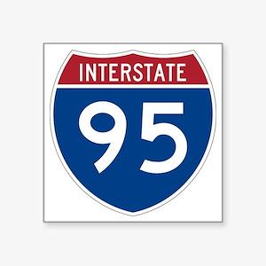 "I-95 Square Sticker 3"" x 3"""