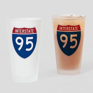 I-95 Drinking Glass
