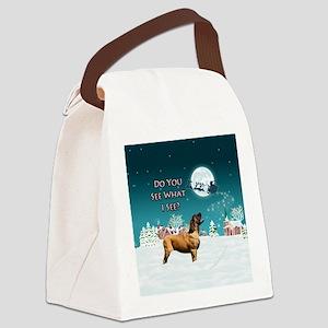 APRICOT MASTIFF CHRISTMAS ORNAMEN Canvas Lunch Bag