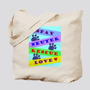 Spay Neuter Rescue Love Green Tote Bag