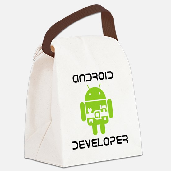 android-developer Canvas Lunch Bag
