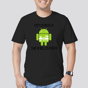 android-developer Men's Fitted T-Shirt (dark)