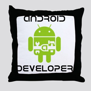 android-developer Throw Pillow