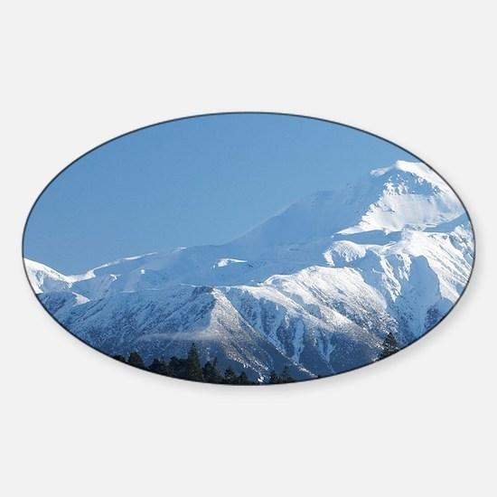 Mount Hutt, Mid Canterbury, South I Sticker (Oval)