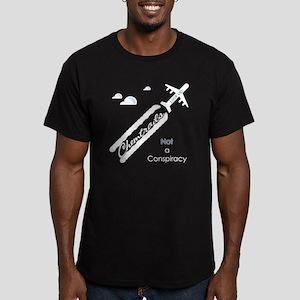 transparentbgchemtrail Men's Fitted T-Shirt (dark)