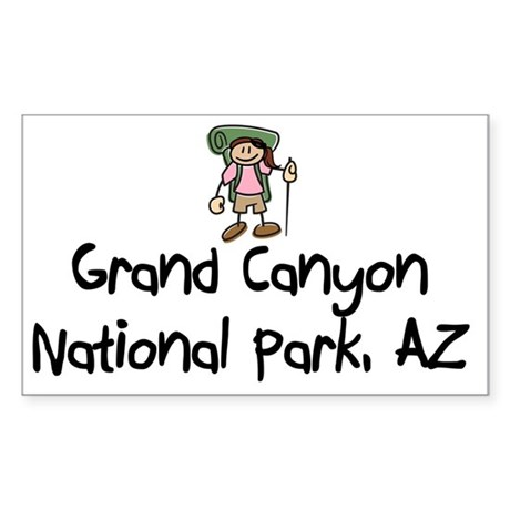 GrandCanyonNP_Back-Grl Sticker (Rectangle)