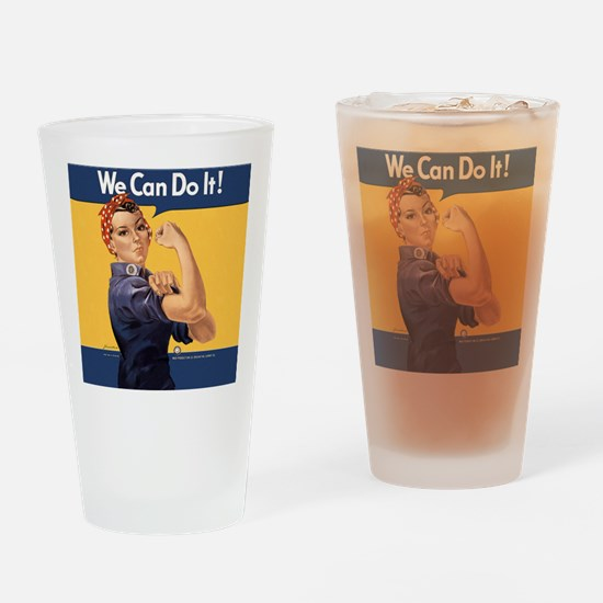 we-can-do-it-rosie_12-5x13-5h Drinking Glass