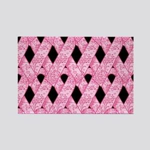 PinkRTwHeartPgBMiniWal Rectangle Magnet