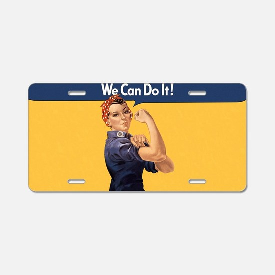 we-can-do-it-rosie_10x18h2 Aluminum License Plate