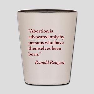 reagan-abortion-quote-square Shot Glass