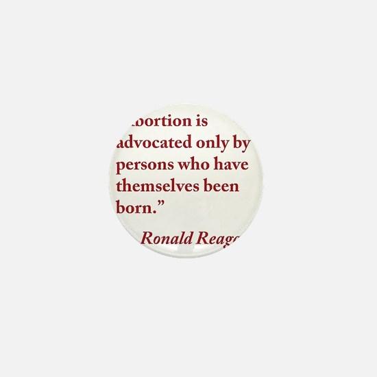 reagan-abortion-quote-square Mini Button